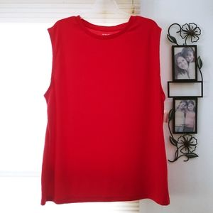 Men's red muscle shirt NWT